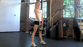 kettlebell deadlift - step 1