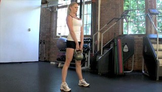 kettlebell deadlift - step 3