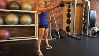 kettlebell swing - step 1