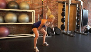 Picture of a female doing Kettlebell Swing Exercise