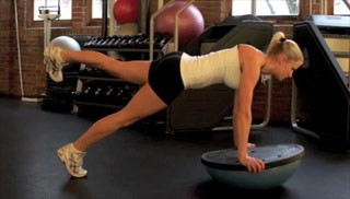 leg raises on bosu - step 2