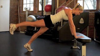 Picture of a female doing Leg Raises Exercise
