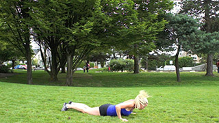 Picture of a female doing Outdoor Burpees Exercise