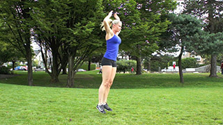 outdoor burpees - step 3