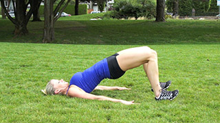 Picture of a female doing Outdoor Hip Raises Exercise