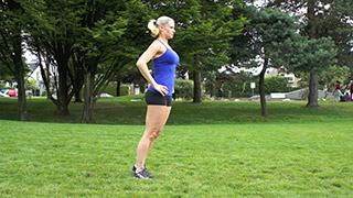 outdoor lunges - step 1
