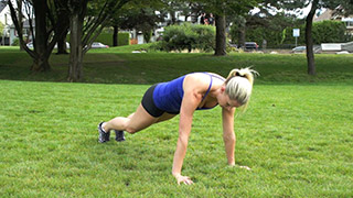 outdoor plank knee to elbow - step 1