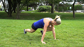 outdoor plank knee to elbow - step 3