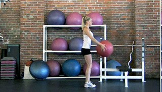 reverse lunge with overhead stretch - step 1