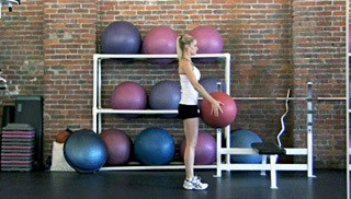 reverse lunge with overhead stretch - step 3