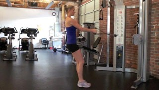 reverse lunge with row - step 1