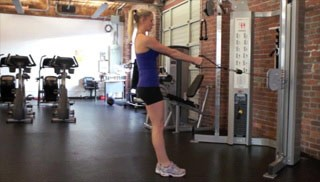 reverse lunge with row - step 3