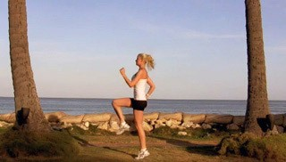running with high knees - step 1