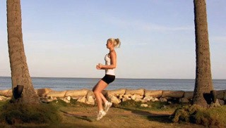 Picture of a female doing Running With High Knees Exercise