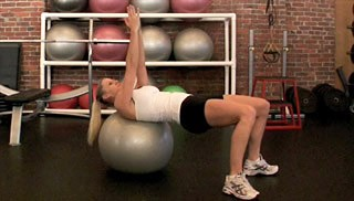 russian twist on stability ball - step 1
