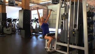 seated lat pull down - step 1