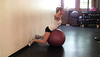 stability ball back extension - step 1
