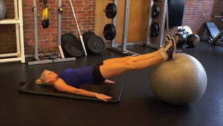 stability ball hamstring curls - step 3