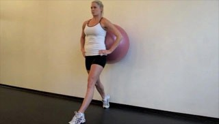 stability ball lunge - step 3