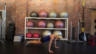 standing burpees - step 3