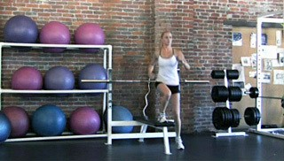 step-over knee drive - step 1