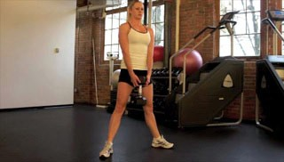 sumo dumbbell squat - step 1