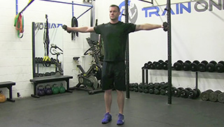 3 way shoulder raise  - step 1