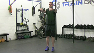 3 way shoulder raise  - step 2