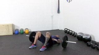 barbell glute bridge - step 1