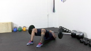 barbell glute bridge - step 2