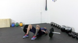barbell glute bridge - step 3