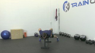bat wing dumbbell rows - step 2
