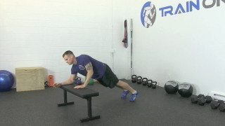 bench plank to push-up - step 2