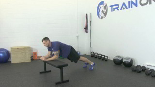 bench plank to push-up - step 3