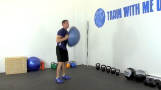 bosu burpee overhead press - step 1