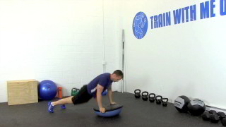 bosu burpee overhead press - step 2