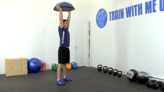 bosu burpee overhead press - step 3
