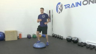 Picture of a male doing Bosu Step-Ups Exercise