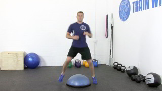 bosu straddle - step 1