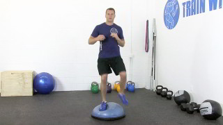 bosu straddle - step 2