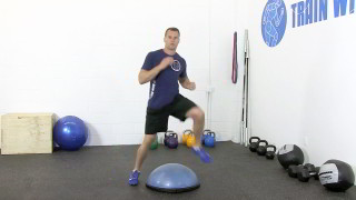 bosu straddle - step 3