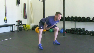 double kettlebell swing - step 1