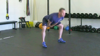 double kettlebell swing - step 3