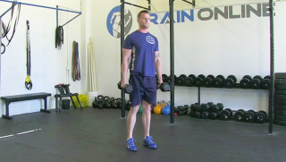 dumbbell reverse lunge - step 1
