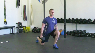 dumbbell reverse lunge - step 2