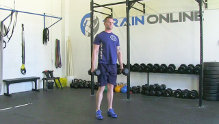 dumbbell reverse lunge - step 3