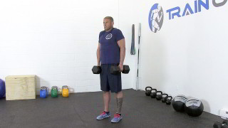 dumbbell shrugs - step 2
