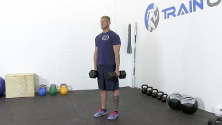 dumbbell shrugs - step 3