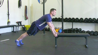 hip flexor stretch on bench - step 3