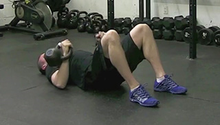 double kettlebell floor press - step 3